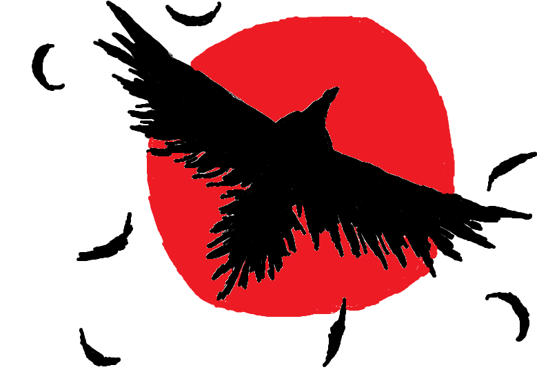 Raven clipart red moon #14