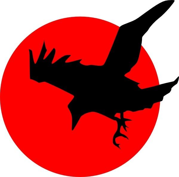 Raven clipart vector #3