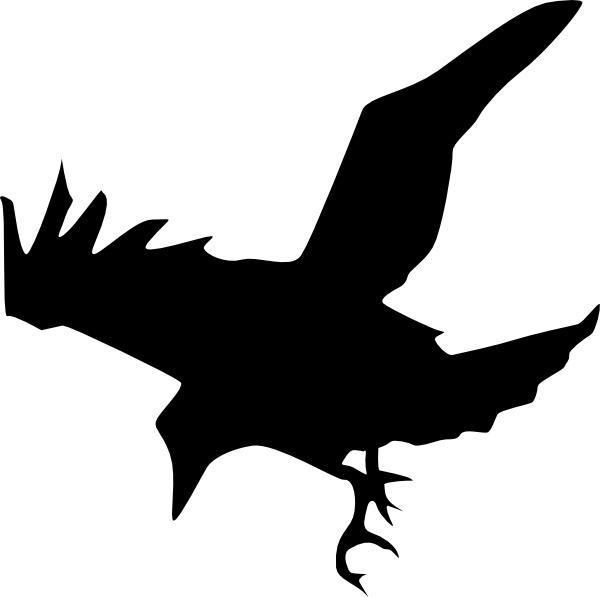Raven clipart vector #2