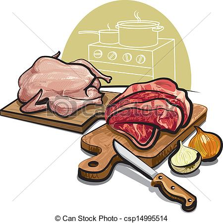 Ham clipart cooked steak Clip raw of Illustration csp11514835