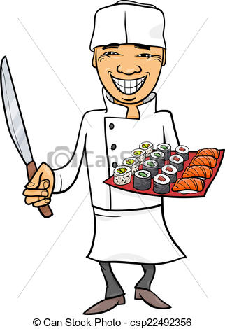 Raw clipart sushi chef Sushi sushi of Illustration japan