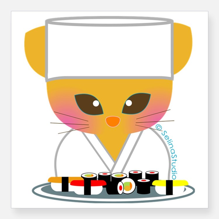 Raw clipart sushi chef Decals chef Chef Sushi sushi