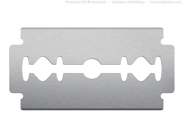 Razorblade clipart White Free on blade on