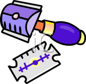 Razorblade clipart Clipart Picture of Royalty Free