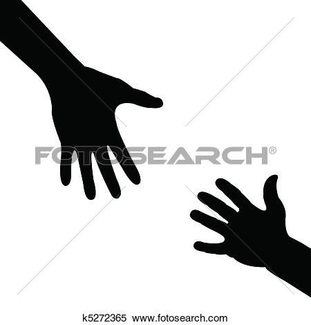 Hand Illustrations 450x470 someone Clipart
