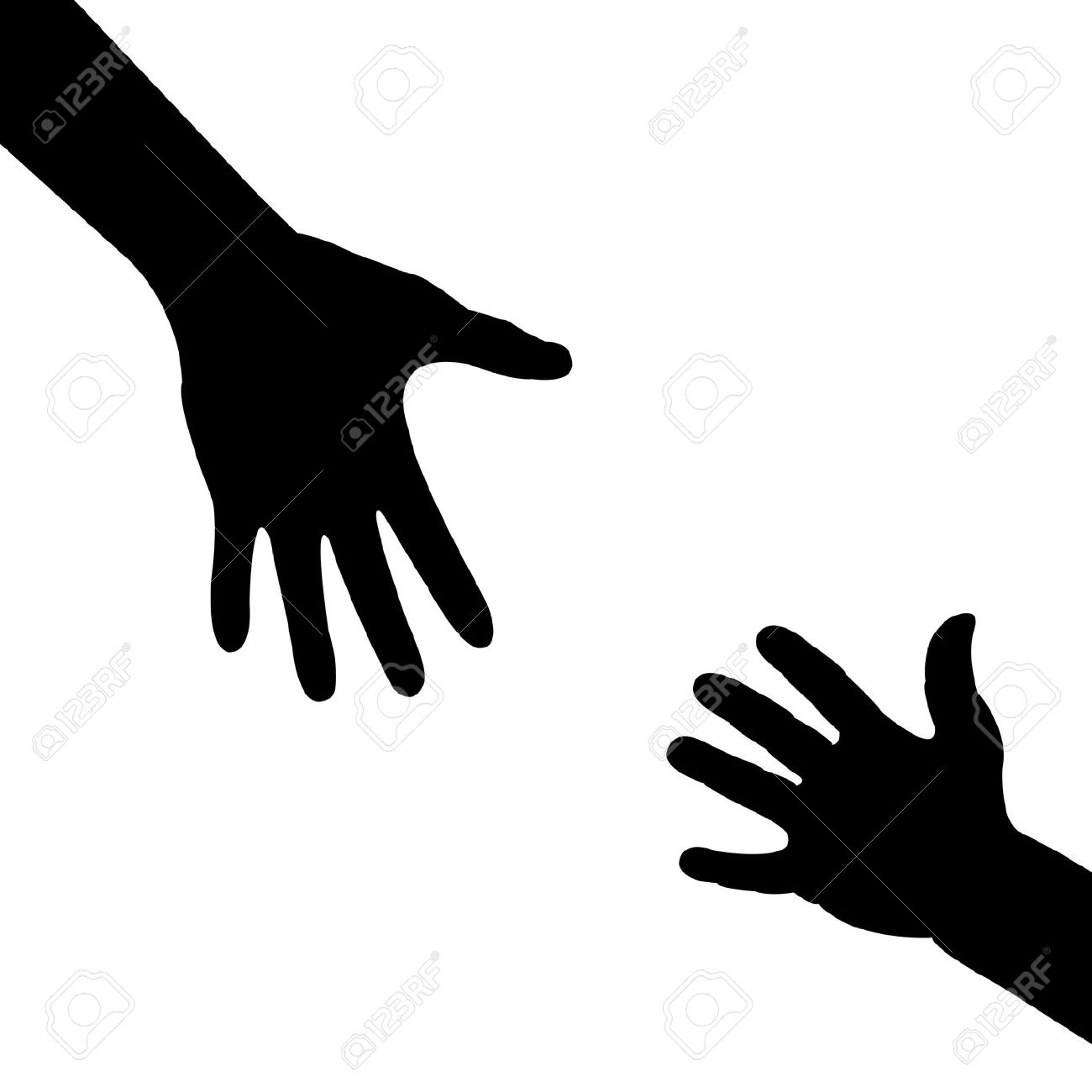 Reach clipart Reaching Hand Clipart Symbol reaching clipart hands Two
