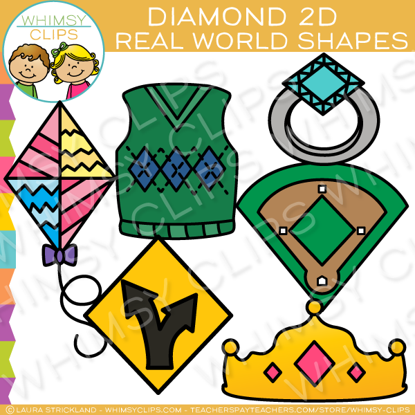 Diamond clipart different shape 2D Real Art Clip Diamond