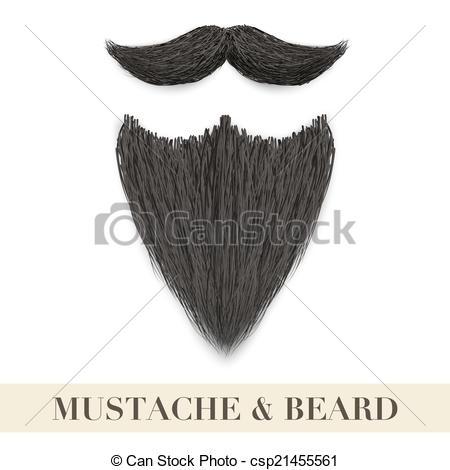 Beard clipart realistic #7