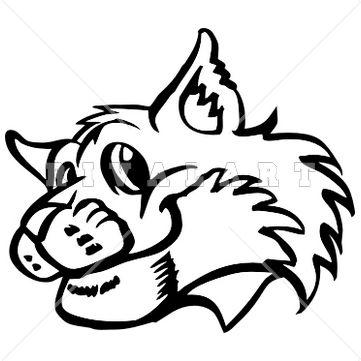 Bobcat clipart realistic On 10 Clipart Mascot Happy