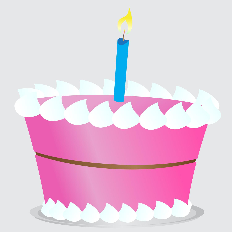 Simple clipart birthday cake #6