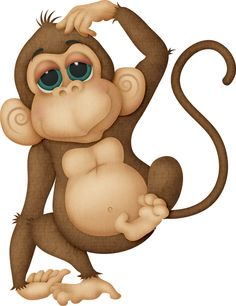 Baboon clipart cute Cute art Clipartix animal Monkey