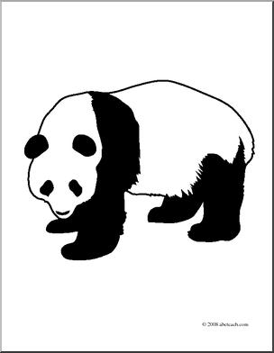 Panda clipart black and white Art Clip Free Images Panda