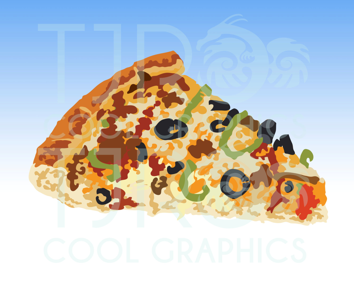Pizza clipart realistic  is Printable Art file