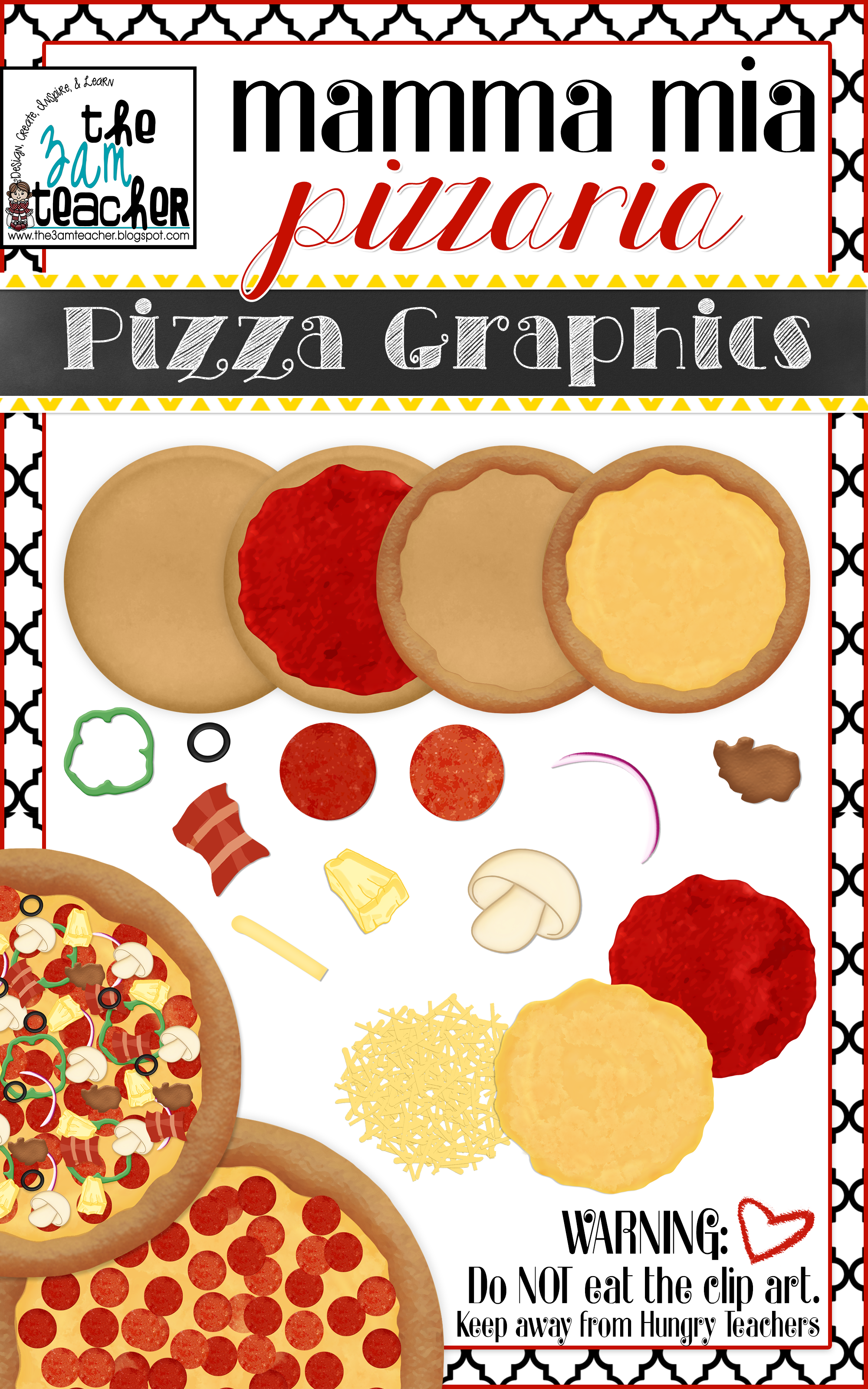Pizza clipart realistic Custom / Collection Clipart Graphics