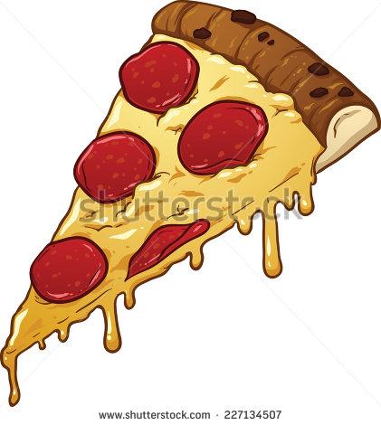 Drawn pizza Vector pizza simple pizza art