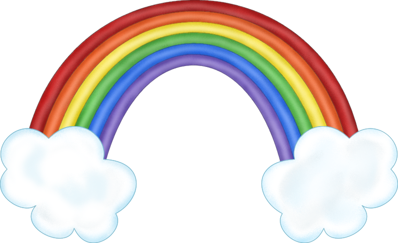 Drawn rainbow cloud png Clipart ClipartFest art clouds rainbow