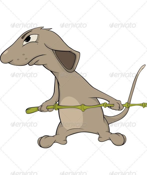Realistic clipart rat #13