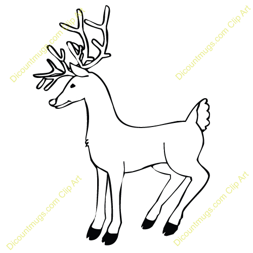 Drawn reindeer realistic Version Coloring Full Drawing A