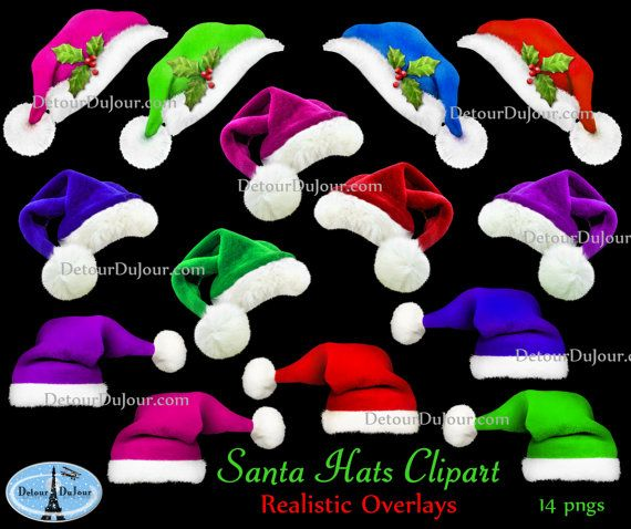 Realistic clipart santa hat By 14 Pinterest Christmas Holidays