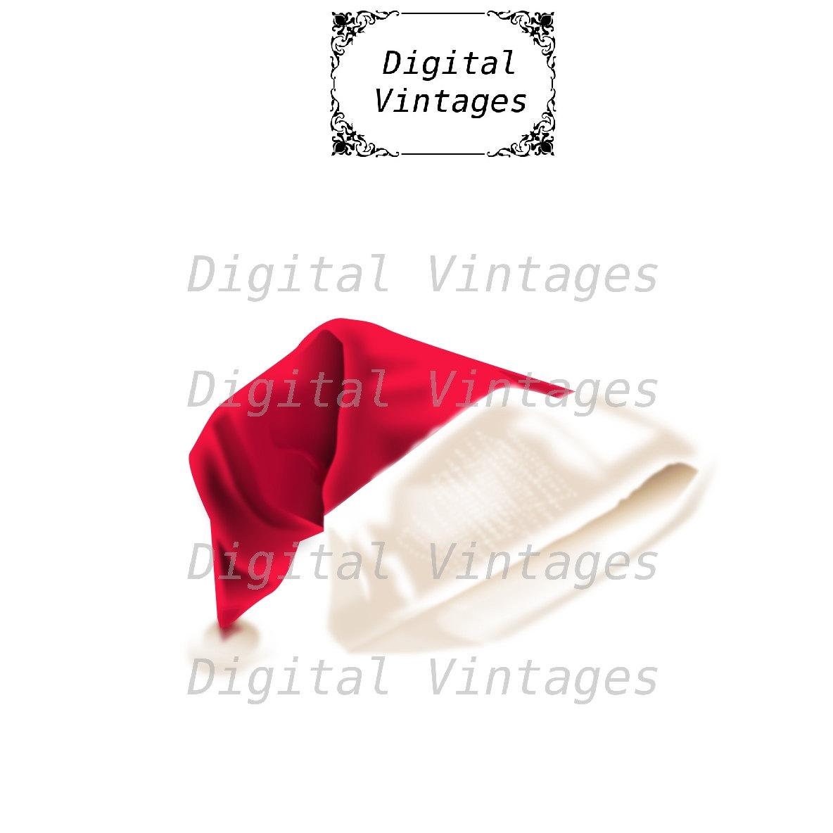 Realistic clipart santa hat Christmas Color  digital is