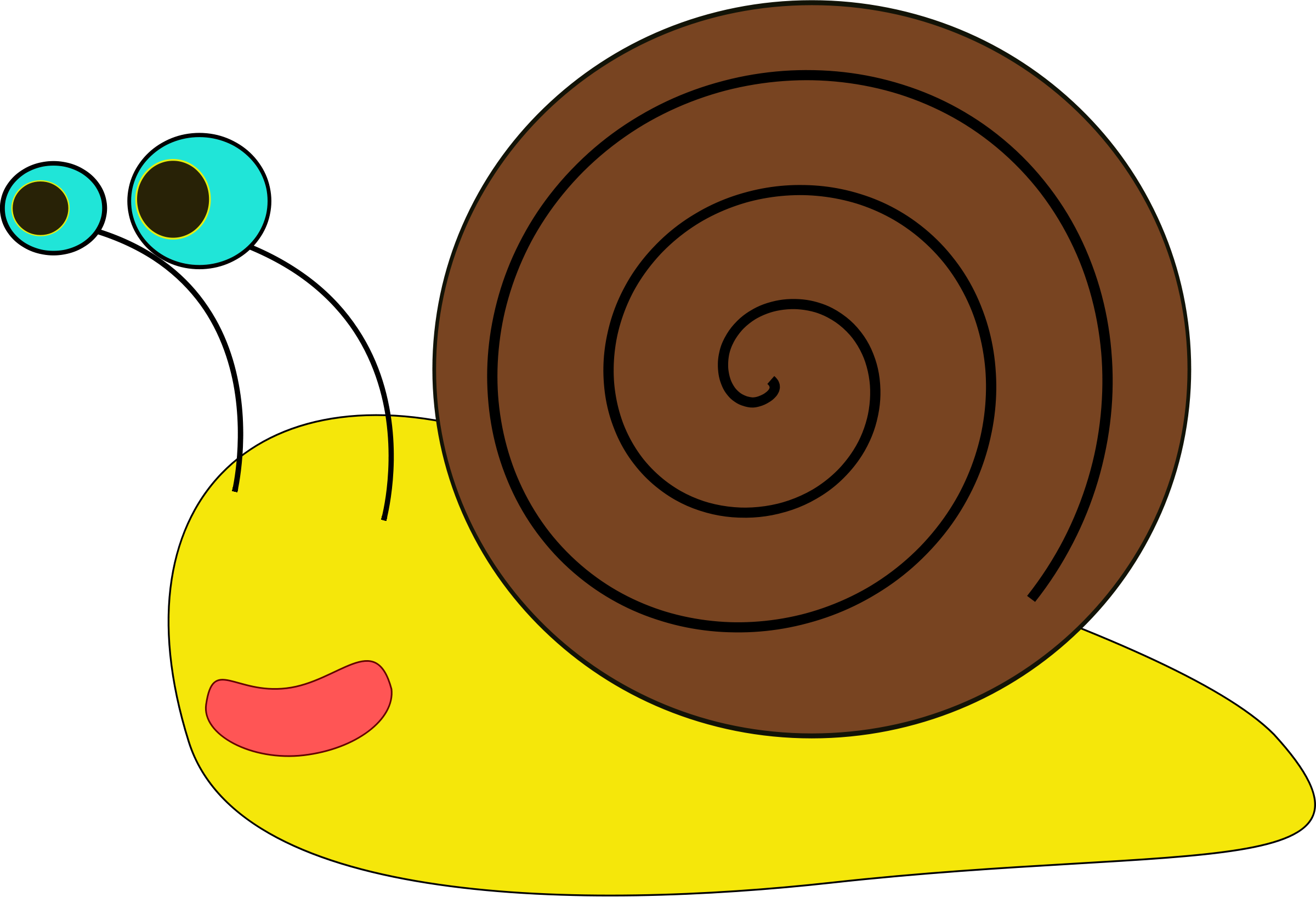 Red clipart snail #6
