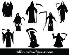 Reaper clipart silhouette Art Silhouette Vector Free Download