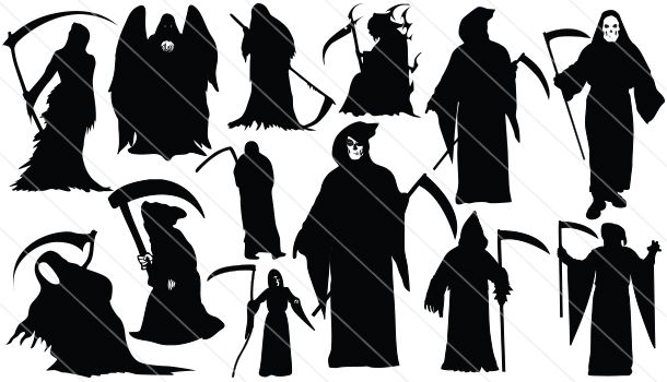 Reaper clipart silhouette Vector Silhouettes Pinterest Witches &