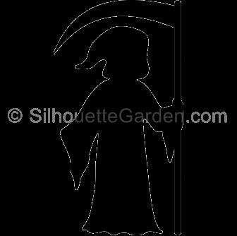 Reaper clipart silhouette Reaper Grim Reaper Silhouette Silhouette