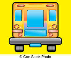 Rear clipart bus  Road Road reflector School