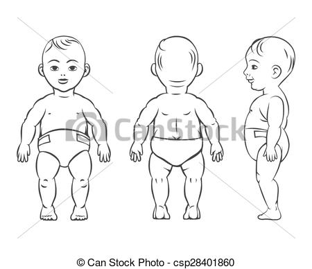 Rear clipart child body Side Vector view view figure