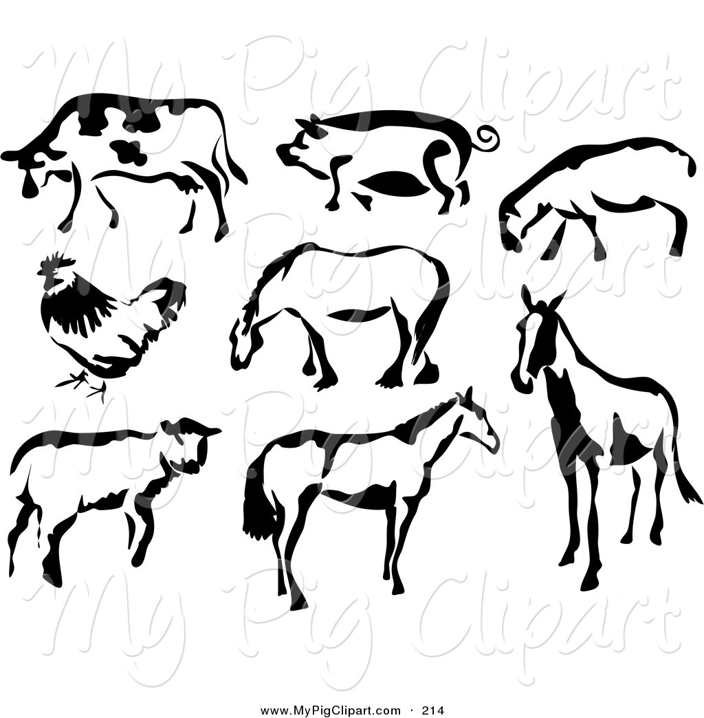 Rear clipart cow Pig and Designs Page and