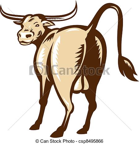 Rear clipart cow Rear illustration  Texas and