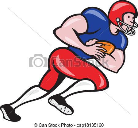 Rear clipart football player Vector Running of Clip Art