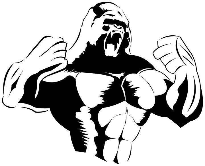 Amd clipart king Gorilla result art vector Pinterest