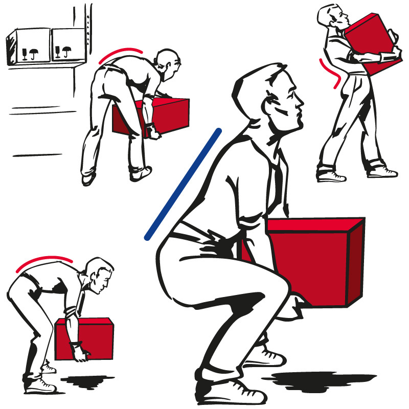 Rear clipart proper lifting #13