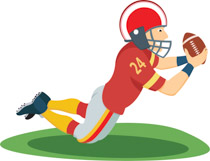 Receiver clipart old phone Size: player Wide ball player