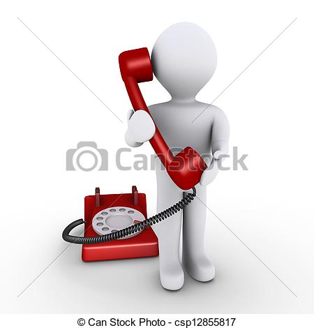 Receiver clipart red phone Telephone Receiver and holding holding