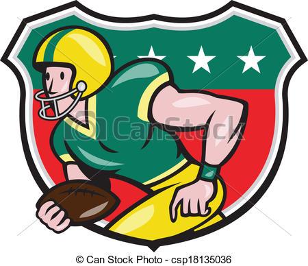 Receiver clipart american football Ball Running Wide Shield Running