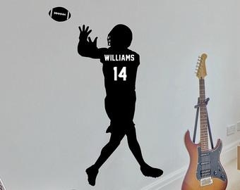 Receiver clipart cool football Etsy Football Football Custom Football