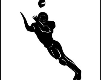 Receiver clipart cool football Wide Football Removable Football Wall