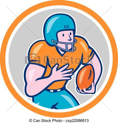 Receiver clipart football basketball Running Running Circle American Shield