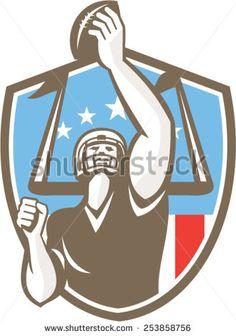 Receiver clipart football basketball An american gridiron Illustration receiver