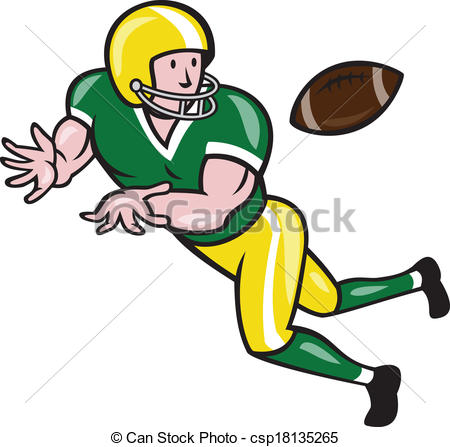 Receiver clipart football catch #1