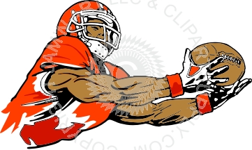 Receiver clipart football catch #2