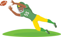Receiver clipart football catch Football to americanclipart player From: