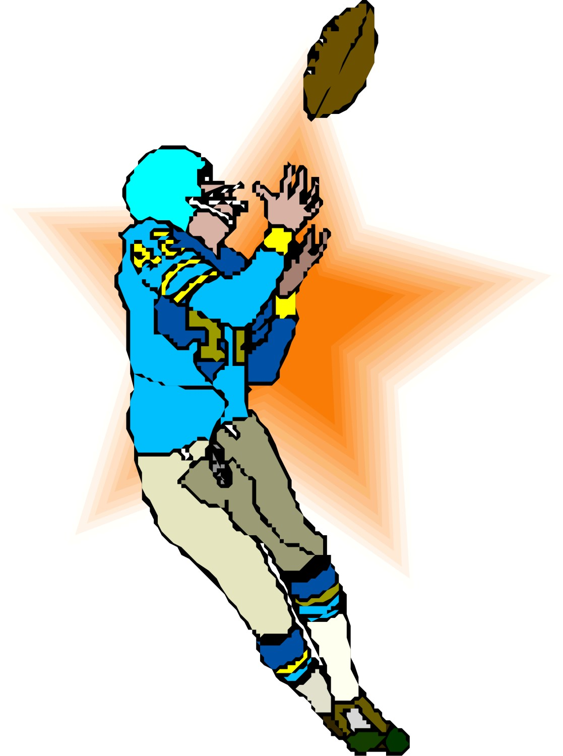 Receiver clipart football pass Of Cliparts Two Zone a