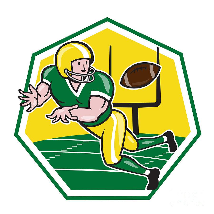 Receiver clipart football pass Wide by Digital Football Ball
