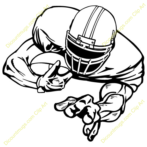 Receiver clipart football player Mean Player – 101 Clip