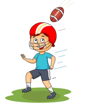 Football clipart catch Running Football Player american with