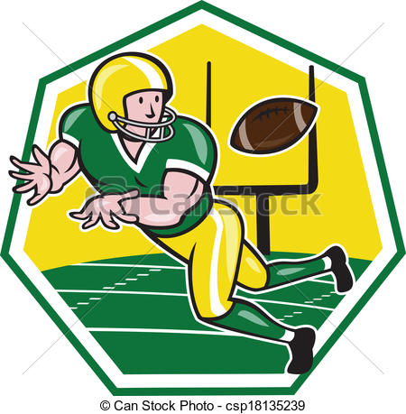 Receiver clipart football player Ball Wide of Catching Receiver